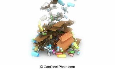 déchets ménagers, tomber