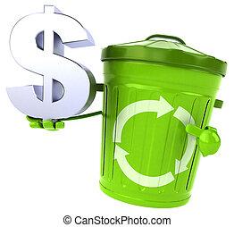 déchets ménagers, vert