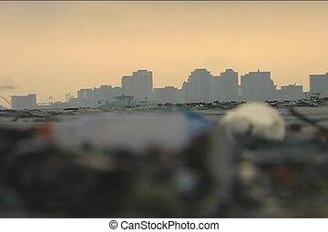 déchets ménagers, ville, plage