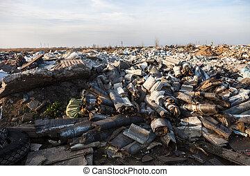 déchets, mise en décharge