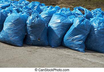 déchets, paquets