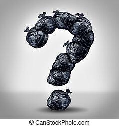 déchets, questions
