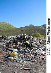 déchets, tas