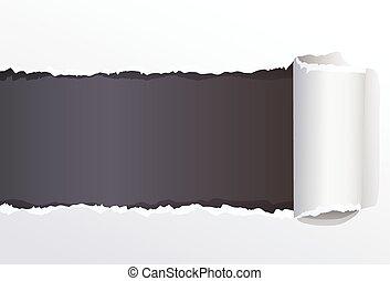 déchiré, couleur, message, papier, espace, ton, emballé