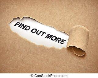 déchiré, derrière, papier, mots, plus, trouver, dehors