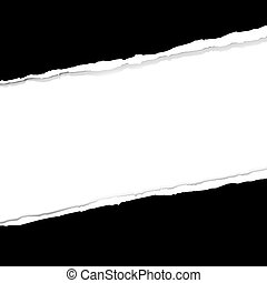 déchiré, papier, bannière
