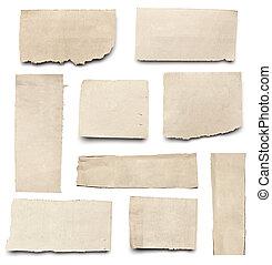déchiré, papier, fond, nouvelles, message, blanc