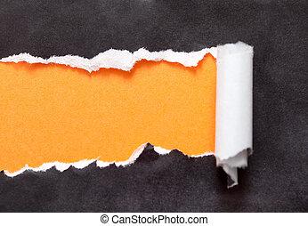 déchiré, papier, ton, message, espace