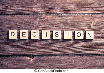 décision économique, concept