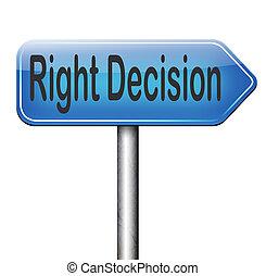 décision, droit, ou, choix