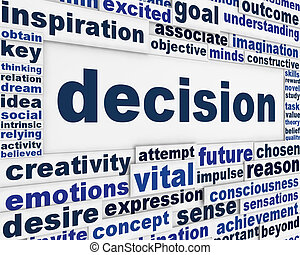 décision, message, fond