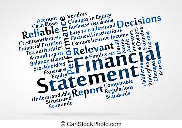 déclaration financière