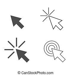déclic, flèche, icônes