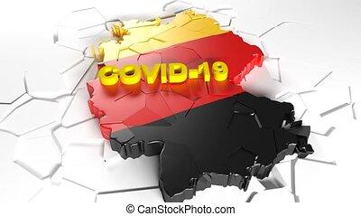 déclin, covid-19, germany., allemand, économie, pandémie