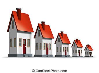 déclin, logement, marché