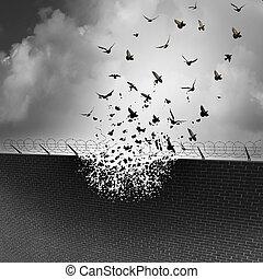 décomposition, murs