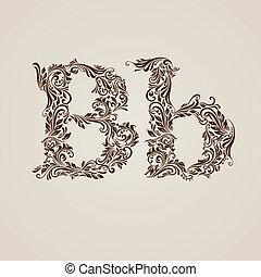 décoré, b, lettre