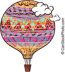 décoré, balloon