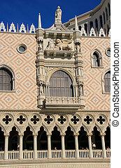 décoré, façade, de, vénitien, recourir hôtel, et, casino, las vegas