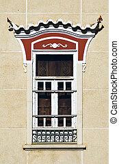 décoré, fenêtre