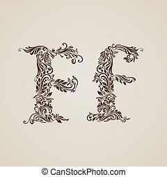 décoré, lettre f