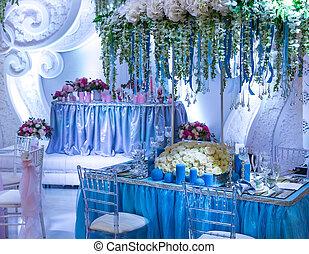 décoré, mariage, resturant