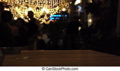 décoré, nuit, club.