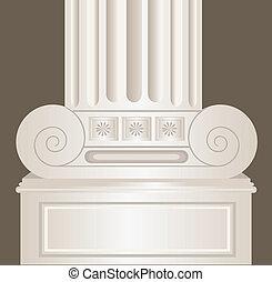 décoré, pilier