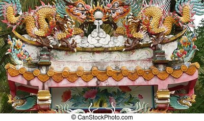 décoré, sanctuaire, culture., architecture, temple, ...