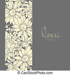 décoré, tournesols, composition, professionally