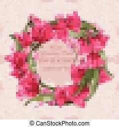 décor, dentelle, couronne, conceptions, salutation, délicat, vector., floral, carte