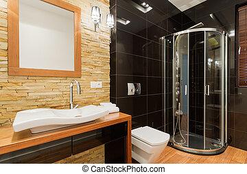 décor, extravagant, salle bains