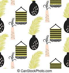 décor maison, pattern., seamless, vase