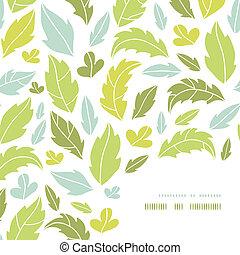 décor, modèle, feuilles, silhouettes, fond, coin