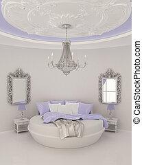 décor, plafond, moderne, chambre à coucher