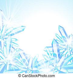 décor, vecteur, hiver, carte
