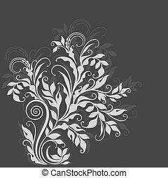 décoratif, élégant, floral, illustration