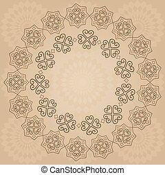 décoratif, arrière-plan beige