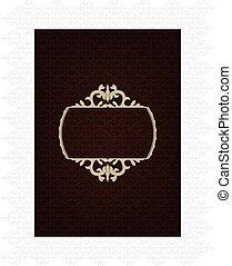 décoratif, arrière-plan brun