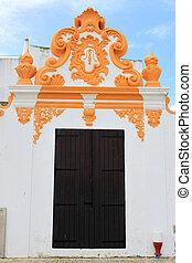 décoratif, bâtiment, porte, bois