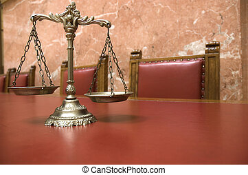 décoratif, balances justice