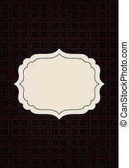 décoratif, brun, écusson, texture