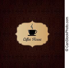 décoratif, brun, café, hou, élégant