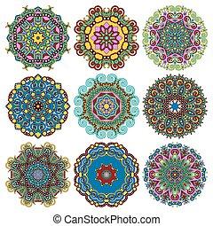 décoratif, c, dentelle, modèle géométrique, ornement, ...