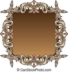 décoratif, cadre