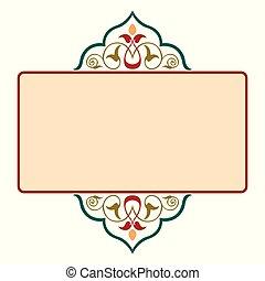 décoratif, cadre, frontière, ruban