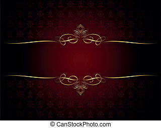 décoratif, cadre, or