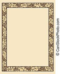 décoratif, cadre, photo, vendange