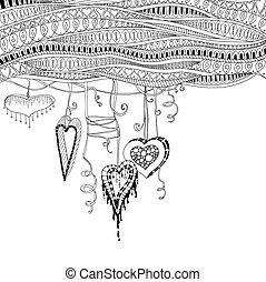 décoratif, cadre, résumé, text., arrière-plan., vecteur, conception, gabarit, floral, endroit, ton, carte