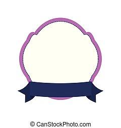 décoratif, cadre, ruban